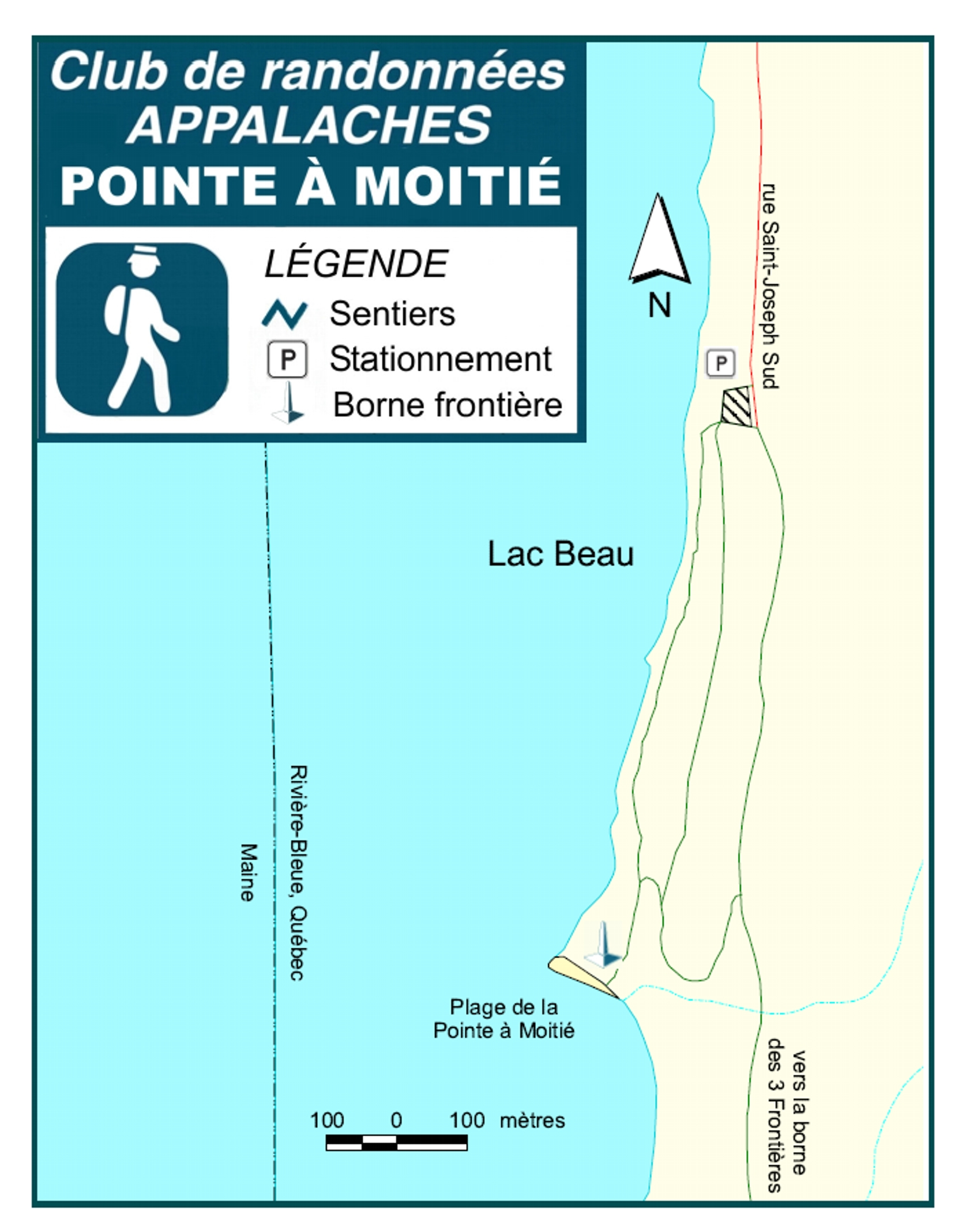 Carte Pointe è Moitié